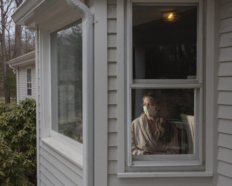 Angela Strassheim-Corona - Cheryl At Window With Mask 02Mar122020